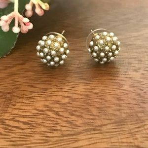 Silpada KR Collection Earrings Pearls Post Studs